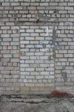 Tegelstendörr i en vit tegelstenvägg Royaltyfri Fotografi
