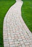 tegelstenfärgwalkway Royaltyfri Fotografi
