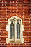 tegelstenfönster Royaltyfria Bilder