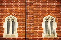 tegelstenfönster Arkivbild