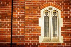 tegelstenfönster Arkivfoton