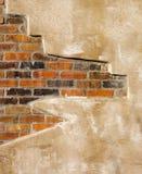 tegelstenfauxvägg royaltyfri bild