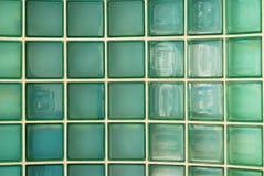 tegelstenglasvägg Arkivfoto
