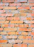 tegelstengrungevägg Arkivbild