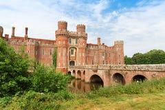 TegelstenHerstmonceux slott i England det östliga Sussex 15th århundradet Arkivbilder