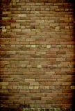 tegelstenkaraktärsteckningvägg royaltyfri foto