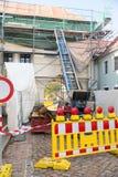 tegelstenkonstruktion som utomhus lägger lokalen arkivbild