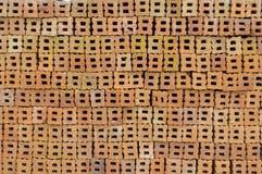 Tegelstenkonstruktionsmaterial förbereder sig för konstruktion Arkivbild