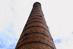 Tegelstenlampglas av det gamla kokkärlhuset fotografering för bildbyråer
