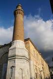 Tegelstenminaret av Ulu Cami Royaltyfria Foton