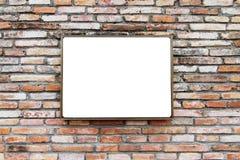 tegelstenplattavägg Arkivbilder