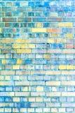 Tegelstenstenvägg arkivfoton