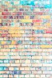 Tegelstenstenvägg royaltyfria foton