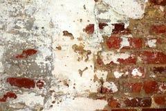 tegelstenstuckaturvägg Arkivbilder