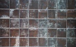 Tegelstentegelplatta på en vägg Royaltyfri Bild