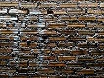 Tegelstentextur med skrapor och sprickor royaltyfri fotografi