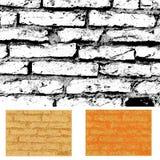 tegelstentexturvägg Fotografering för Bildbyråer