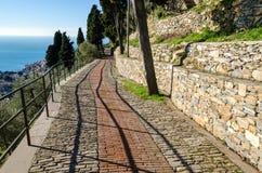 Tegelstenväg Arkivbild