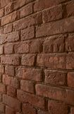 tegelstenvägg Arkivfoto