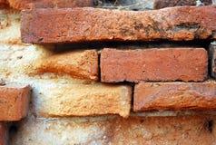 Tegelstenvägg. Fotografering för Bildbyråer