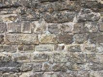 Tegelstenvägg av en forntida slott Royaltyfria Foton