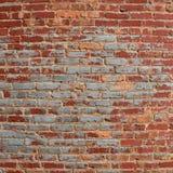 Tegelstenvägg av historisk byggnad Arkivbilder