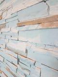 Tegelstenvägg för pastellfärgad färg Arkivbilder