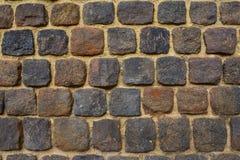 Tegelstenvägg - forntida fästning Royaltyfri Fotografi