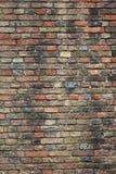 Tegelstenvägg gamla Brugge Royaltyfri Fotografi