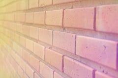 Tegelstenvägg i mjuk retro stil för abstrakt bakgrund Royaltyfri Bild