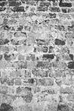 Tegelstenvägg i svart färg. Royaltyfri Fotografi