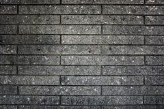 Tegelstenvägg, jordning, tapet som är svartvit Royaltyfri Bild