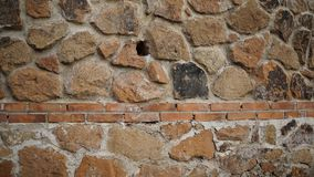 tegelstenvägg med geometriska modeller Royaltyfri Bild