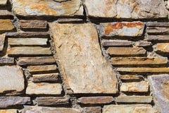 Tegelstenvägg med kopieringsutrymme på en stor tegelsten Royaltyfri Fotografi