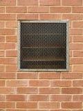 Tegelstenvägg med lufthålet Fotografering för Bildbyråer