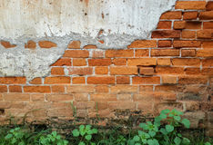 Tegelstenvägg med tappningblick Royaltyfri Foto
