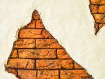Tegelstenvägg med vitt utrymme Royaltyfri Fotografi