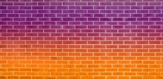 Tegelstenvägg, orange purpurfärgad bakgrund för textur för tegelstenvägg för grafisk design vektor illustrationer