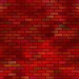 Tegelstenvägg som är seamless Arkivbilder