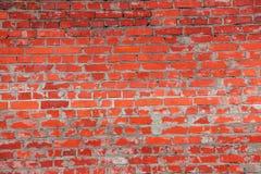 Tegelstenvägg, textur, bakgrund. Fotografering för Bildbyråer