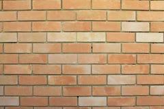 Tegelstenvägg, vägg med tegelstenar Fotografering för Bildbyråer