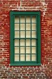 tegelstenväggfönster Royaltyfri Bild
