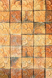 Tegelstenväggtextur, fyrkantig tegelstenbakgrund Arkivbild