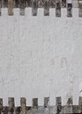 tegelstenväggwhite arkivbild