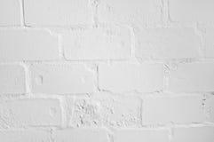 tegelstenväggwhite Arkivbilder