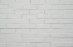 tegelstenväggwhite Arkivfoto