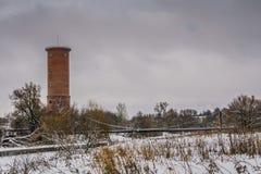 Tegelstenvattentorn Fotografering för Bildbyråer
