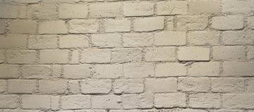 Tegelstenvitvägg Arkivbilder