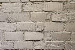 Tegelstenvitvägg Arkivfoto