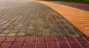 tegelstenwalkway Royaltyfri Fotografi